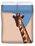 Abstract Giraffe Duvet Cover