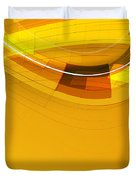 Abstract Golden Arcs And Lines Duvet Cover