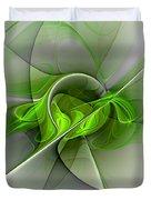 Abstract Green Fractal Art Duvet Cover