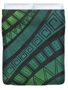 Abstract Green Duvet Cover