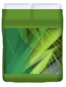 Abstract Green Vector Background Banner, Transparent Wave Lines  Duvet Cover