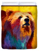 Abstract Grizz Duvet Cover
