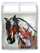 Abstract Horse 12 Duvet Cover