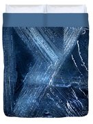 Abstract Ice. Darkness Duvet Cover
