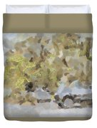 Abstract Image Of Car Passing Through A Dust Storm Duvet Cover