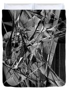 Abstract In Black And White 2 Duvet Cover