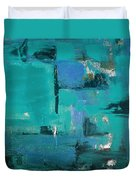 Abstract In Blue Duvet Cover
