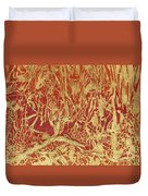 Abstract In Gold Duvet Cover