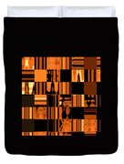 Abstract In Orange And Black Duvet Cover