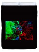 Abstract In Red And Green Duvet Cover
