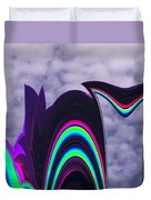Abstract In The Clouds Duvet Cover