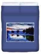 Abstract Invernal River Duvet Cover