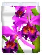 Abstract Iris Duvet Cover
