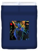 Abstract Kitty Duvet Cover