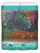 Abstract Landscape 15-oo Duvet Cover