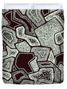 Abstract Landscape - Hand Drawn Pattern Duvet Cover