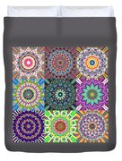Abstract Mandala Collage Duvet Cover