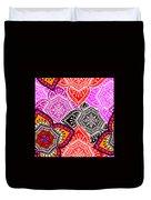 Abstract Mandala Floral Design Duvet Cover