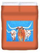 Abstract Mehndi Texas Longhorns Duvet Cover