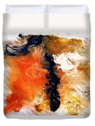 Abstract Metal Wall Art, Print On Aluminum, Original Oil Painting Duvet Cover