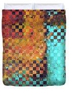Abstract Modern Art - Pieces 1 - Sharon Cummings Duvet Cover
