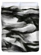 Abstract Monochome 162 Duvet Cover