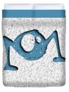 Abstract Monster Cut-out Series - Blue Rambler Duvet Cover