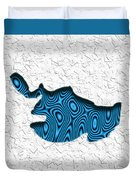 Abstract Monster Cut-out Series - Blue Swimmer Duvet Cover