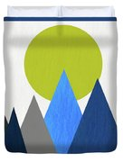 Abstract Mountains And Sun Duvet Cover