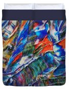 abstract mountains II Duvet Cover