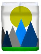 Abstract Mountains Landscape Duvet Cover