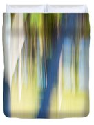Abstract Moving Trees 30 Duvet Cover