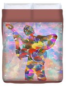 Abstract Musican Guitarist Duvet Cover