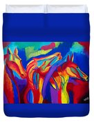 Abstract Mustangs Duvet Cover