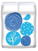 Abstract Nature Blue Duvet Cover