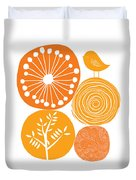 Abstract Nature Orange Duvet Cover