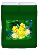 Abstract Of A Wild Buttercup Flower Duvet Cover