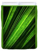 Abstract Of Green Leaf Of Exotic Palm Tree Duvet Cover