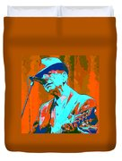 Abstract Of Leonard Cohen Duvet Cover