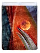 Abstract On Moon Duvet Cover
