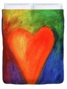 Abstract Orange Heart 1 Duvet Cover