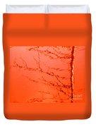 Abstract Orange Duvet Cover