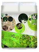 Abstract Painting - Black Bean Duvet Cover