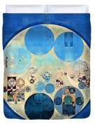 Abstract Painting - Curious Blue Duvet Cover
