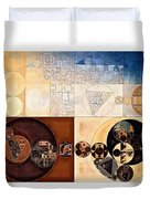 Abstract Painting - Dairy Cream Duvet Cover