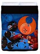 Abstract Painting - Dark Midnight Blue Duvet Cover