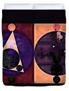 Abstract Painting - Dark Salmon Duvet Cover