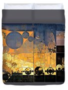 Abstract Painting - Davy Grey Duvet Cover