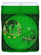 Abstract Painting - Deep Fir Duvet Cover