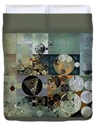 Abstract Painting - Dove Grey Duvet Cover
